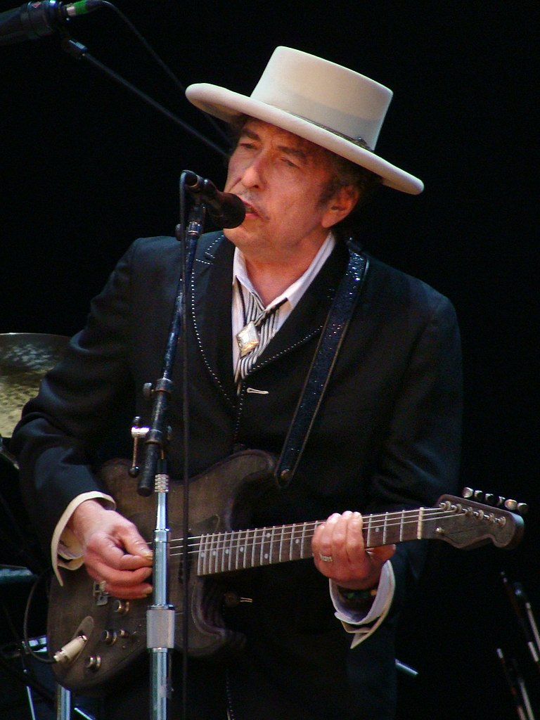 Bob Dylan performing at the Azkena Rock Festival in 2010.