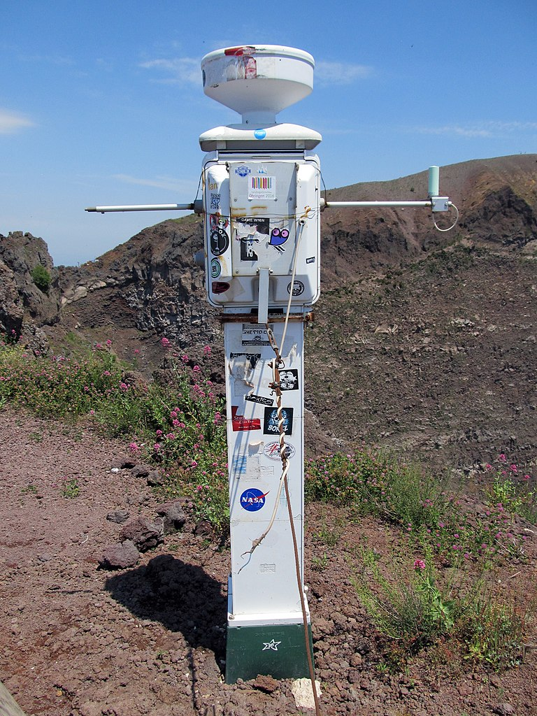 Vesuvius is covered in a wide network of seismic and gravimetric monitoring stations like this one.