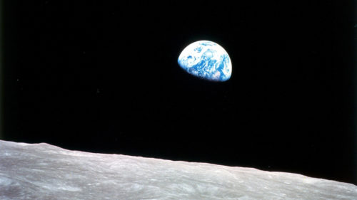 Earthrise by Apollo 8 astronaut William Anders, December 1968. Earth at gibbous phase as seen from the Moon. Credit: NASA