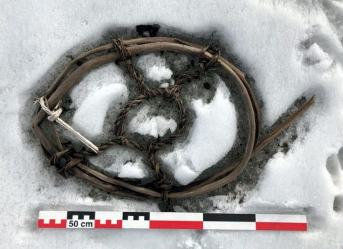 The horse snowshoe. Photo: Espen Finstad, secretsoftheice.com