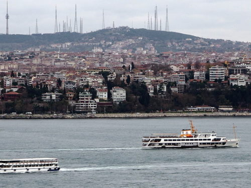 Boats on the Bosphorus - 2013-12-04 in Istanbul.