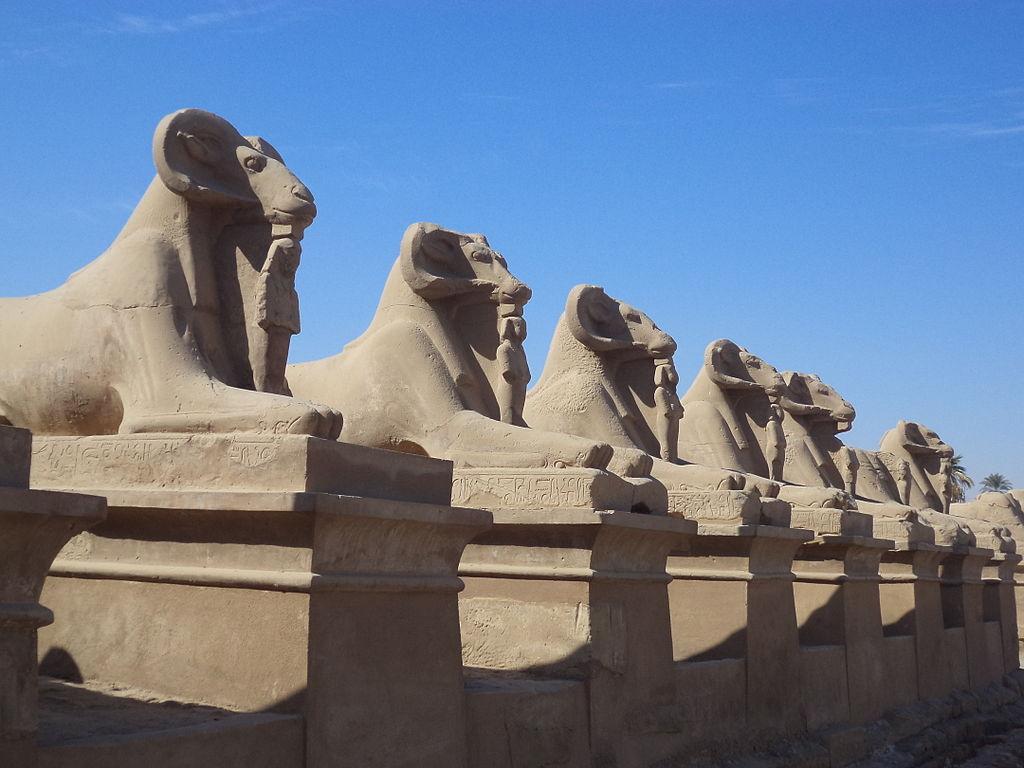 Sphinx avenue from Karnak temples