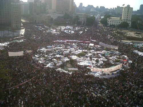 Tahrir Square during 8 February 2011