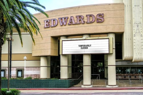 Movie theaters are closed in Southern California due to the coronavirus pandemic. Movie theaters may be among the last businesses to re-open.