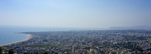 A view of Visakhapatnam from the city's Kailasagiri Park