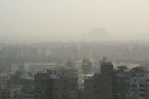 Cairo Air Pollution with less smog - Pyramids1