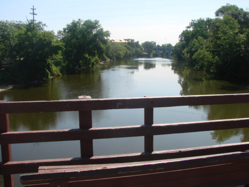 Tittabawassee River, view from the tridge