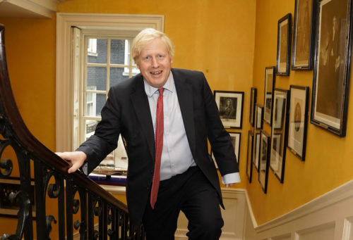 The Prime Minister Boris Johnson arrives back at No10 Downing Street from hospital after the birth of his baby son with his partner Carrie Symonds.