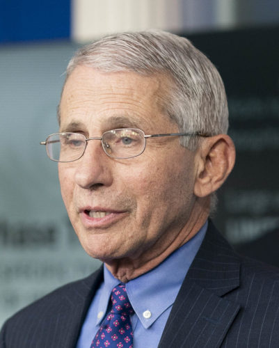 Director of the National Institute of Allergy and Infectious Diseases Dr. Anthony S. Fauci delivers remarks