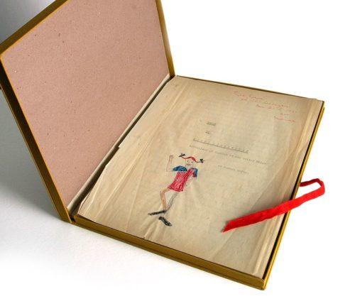 Original manuscript of Pippi Longstocking.
