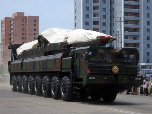 One of North Korea's missiles on display during an army parade in 2013.