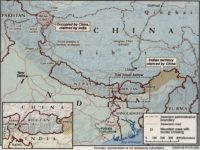 China India CIA map border disputes
