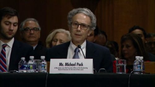Michael Pack Senate hearing.