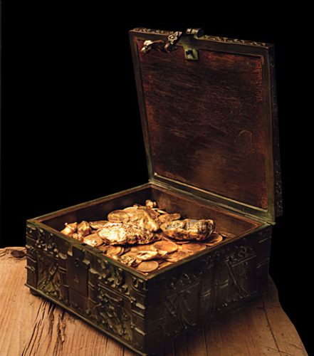 A treasure chest.