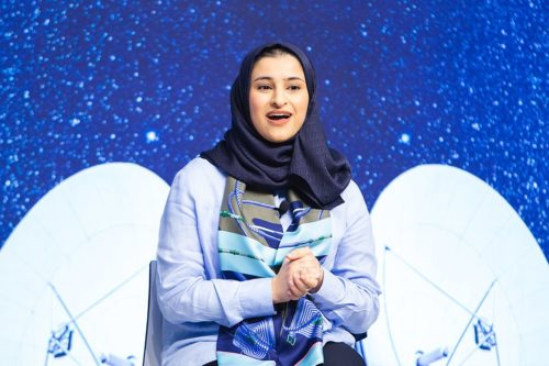"Sarah bint Yousif Al-Amiri, Minister of State for Advanced Sciences of the United Arab Emirates; Young Global Leader capture during the Session ""Sustaining the Space Economy "" at the World Economic Forum - Annual Meeting of the New Champions 2019 in Dalian, People's Republic of China"