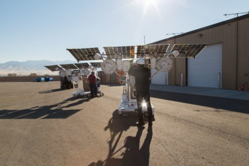 Loon's solar powered cell tower equipment.