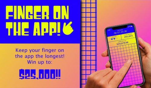 Screenshot of the website for Finger on the App.