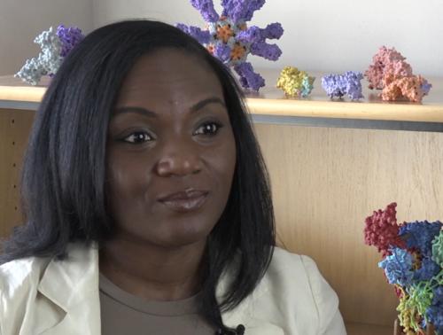 Kizzmekia Corbett, Ph.D., of NIAID's Vaccine Research Center in 2020.