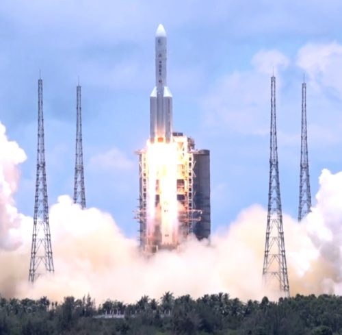 Space probe of Tianwen-1 Mission was launching by Long March 5 Y4 carrier rocket