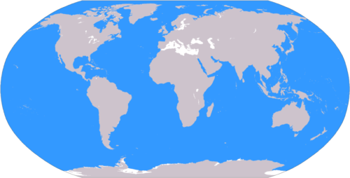 World ocean map