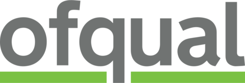 The logo of Ofqual, the qualifications regulator for England, used from October 2018.