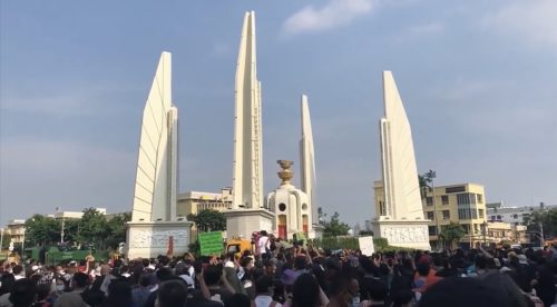 Protest in Bangkok July 18, 2020
