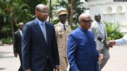 Malian PM Cissé and President Ibrahim Boubakar Keita, 2019
