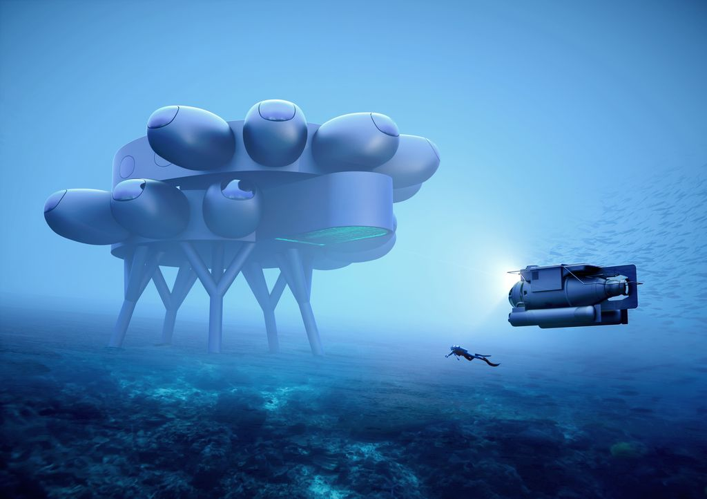 Fabien Cousteau's PROTEUS™. Full view from side.