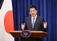 Japanese Prime MInister Shinzo Abe announces that he will resign due to health problems.