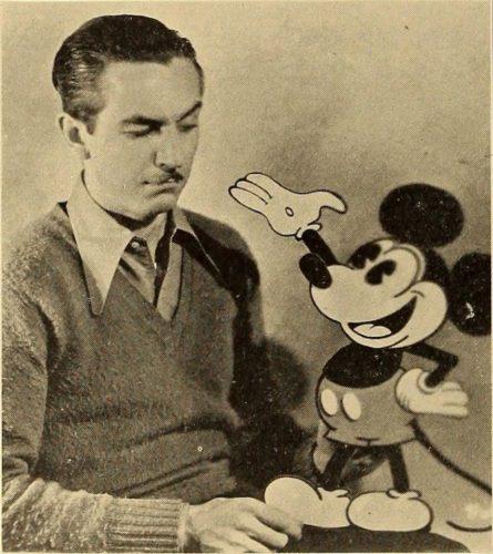 "Walt Disney and his cartoon creation ""Mickey Mouse"""
