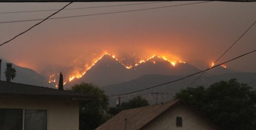 View of Bobcat Fire from Monrovia, CA, September 10, 2020