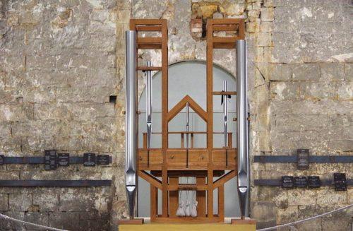 Halberstadt in Sachsen Anhalt. Die Orgel in der : für das Projekt ORGAN²/ASLSP von John Cage.
