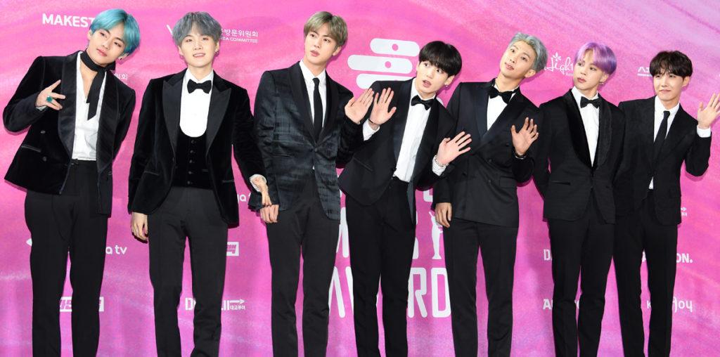 South Korean boy band BTS at the 2019 Seoul Music Awards on 15 January 2019