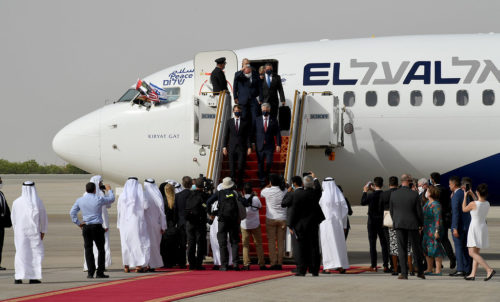 The first direct El-Al flight to the United Arab Emirates arrived at the international air port of Abu Dhabi. August 31, 2020.