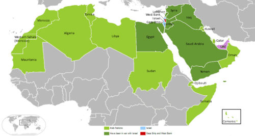 Arab-Israeli Conflict Map