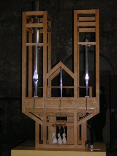 This image has been taken on january 5 of 2005 and is public domain. It shows the special organ for playing Organ2/ASLSP, which will last 639 years, in the burchardi church of Halberstadt, Germany.