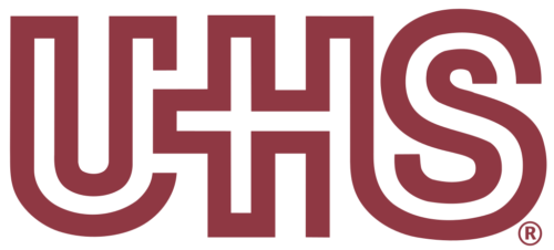 The logo of Universal Health Services