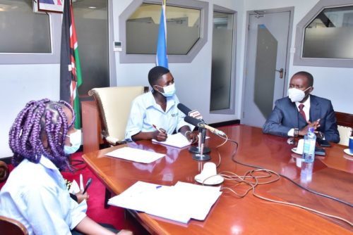 To mark the International Day of the Girl, 18-year-old Mary took over the role of Kenyan Cabinet Secretary in the Ministry of Information and Communications from Joe Mucheru. Mary was accompanied during her takeover by her deputies, Faith, 20, and Alice, 19.