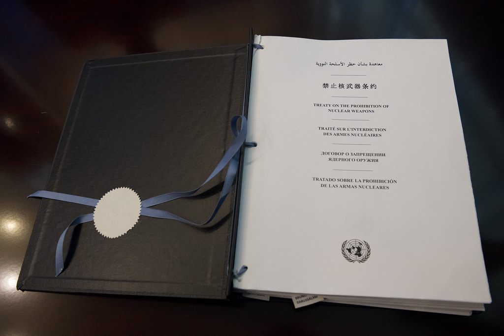 On September 26th, 2018 - the International Day for the Total Elimination of Nuclear Weapons - ICAN and a cross-regional group of governments coordinated a high-level ceremony for the Treaty on the Prohibition of Nuclear Weapons. At the event 7 countries signed and 4 countries ratified the Treaty. #TPNW.