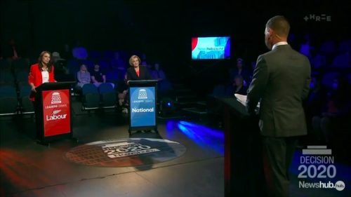 Jacinda Ardern and Judith Collins meet for the second Leaders' debate in New Zealand.
