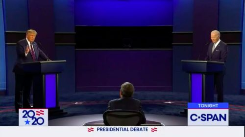 President Donald Trump and former Vice-President Joe Biden meet for the presidential debate.