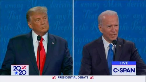 US President Donald Trump and Ex-Vice President Joe Biden met for their final debate before the November 3 election.