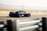 SSC's Tuatara streaking down a Nevada highway as it sets the world speed record for a production car.
