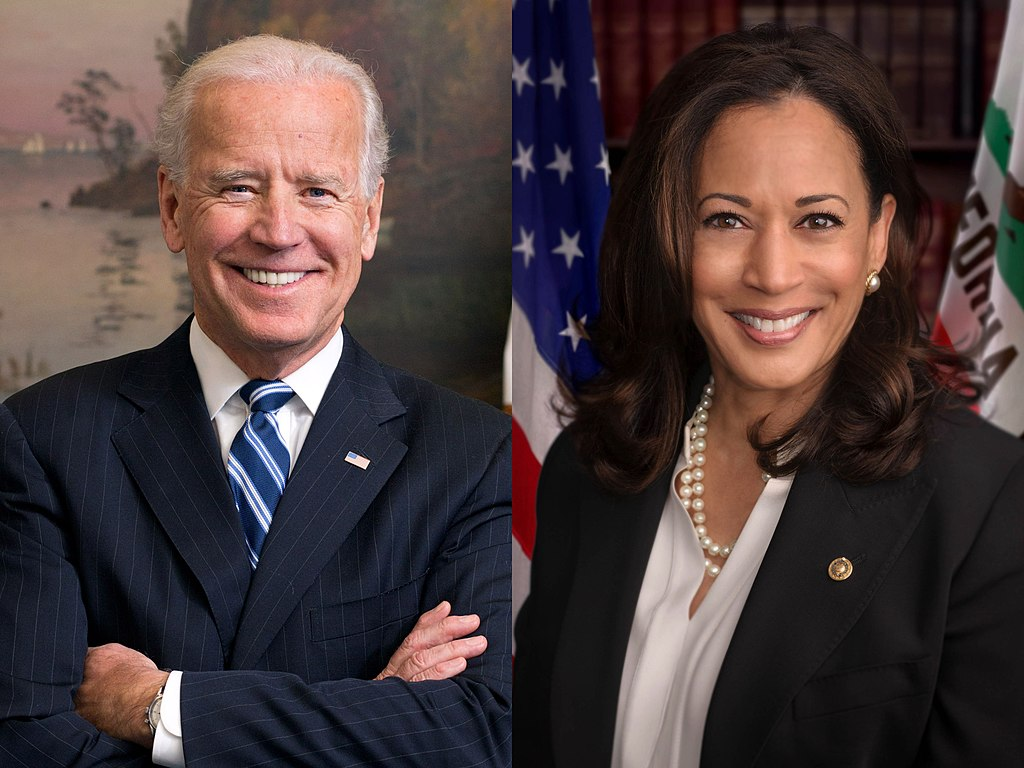 Collage of Joe Biden and Kamala Harris
