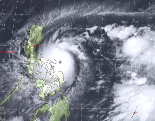 Super Typhoon 22W (Goni) Warning #16 Issued at 31/2100Z, IR Satellite imagery