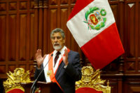 Francisco Sagasti is sworn in as President of Peru.