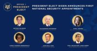 Image showing six of President-elect Joe Biden's first picks for Cabinet positions.