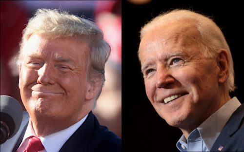 President Donald Trump and ex-Vice President Joe Biden