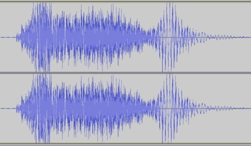 Stereo waveform of a cough.