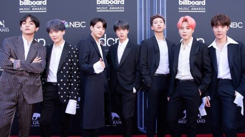 BTS on the Billboard Music Awards red carpet, 1 May 2019